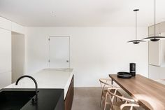 Antwerp-based Dieter Vander Velpen remodelled the kitchen and bathroom for a doctor couple. Built in the 1970s near the Belgian town of Leuven, the property named BC House had originally belonged to one of their parents.