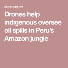 Drones help indigenous oversee oil spills in Peru's Amazon jungle. It's a pity Trump and other deniers don't watch evidence like this as to why we need more enlightened leadership ! Equally, however, it is great to see native tribes using new technologies to highlight the abuses occurring - now they, in turn, need our help to pressure   abysmal politicians! We have the resources and the numbers to make a difference! Let's do it folks !