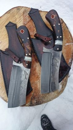 Galerie - Welding Projects about you searching for. Cool Knives, Knives And Tools, Knives And Swords, Bushcraft, Trench Knife, Opinel, Handmade Knives, Knife Sharpening, Kydex
