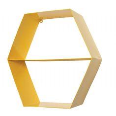 Shelves GE Hex Metal Shelf Yellow