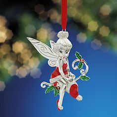 Disney's Santa's Little Helper Tinker Bell Ornament by Lenox