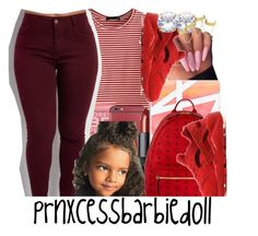 """""""Contest Entry    """"Red"""" (NO GANG)"""" by prnxcessbarbiedolll ❤ liked on Polyvore featuring WithChic, Formula 10.0.6, NARS Cosmetics, Casetify, MCM, NIKE and House of Harlow 1960"""