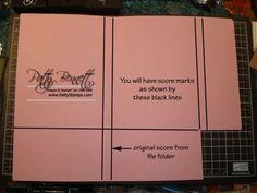 File folder notebook instructions