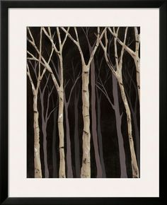 Midnight birches , Posters and Prints at Art.com