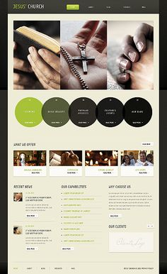Template 40363 - Church Wordpress Theme With Accordian Style Image Gallery Header