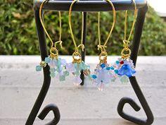 Swarovski beads earrings.