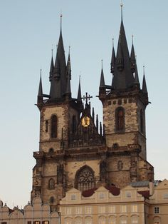 Tyn Church, Old Town Square, Prague.  Gothic architecture at its best.