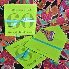 Adult Birthday Party | Adult Party | Adult Favors | 60th Birthday Ideas | Lottery Ticket Holders | by abbey and izzie designs