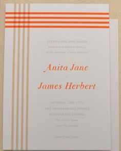 """See the """"Striped Invitation"""" in our Modern Wedding Invitations gallery"""