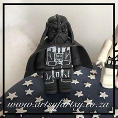 Lego Darth Vader Cake Topper #legodarthvadercaketopper Cupcake Cakes, Cupcakes, Star Wars Cake, Lego Cake, Cake Toppers, Darth Vader, Bags, Handbags, Bag