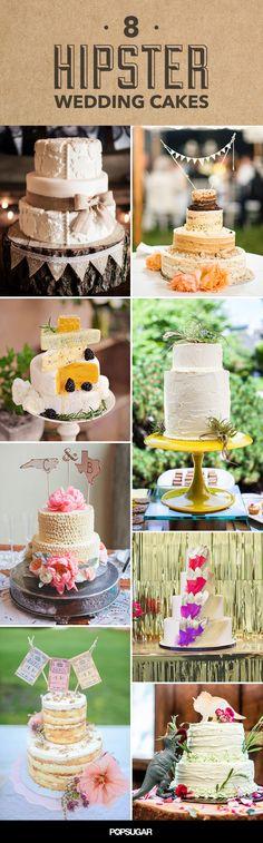 Hipster Wedding Cake Inspiration