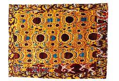"46""x511"" Sari Silk Rug, Gold/Multi on OneKingsLane.com"