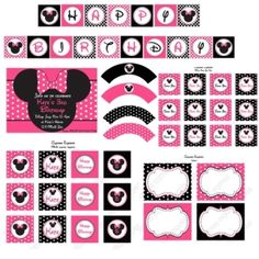 Minnie Mouse Zebra Party Pack Ideas by valarie