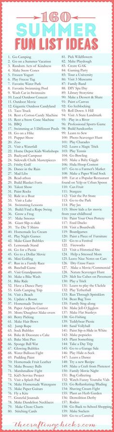 160 Fun Ideas For Summer