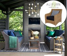 We love this ol' American porch! Recreate the look, with Alifurn's Carolina chairs – this look re-imagines the classic Maine style in all-weather fibrecane, with laid-back curves and high back for added comfort…