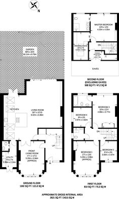 Floorplan of Anson Road, Willesden Green, House for sale (Property for sale) through Foxtons Estate Agents House Layout Plans, House Layouts, House Extension Plans, Extension Ideas, Buy To Let Mortgage, Side Return Extension, Mews House, House Extensions, Next At Home
