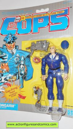 Cops 'n Crooks LONGARM c.o.p.s. hasbro toys 1988 vintage action figures moc