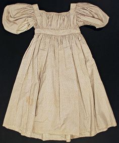 Girl's Dress, ca. 1830, American, Made of cotton