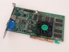 Creative TNT2 Ultra CT6810 was available in May 1999. It is based on the Nvidia reference board with the Riva TNT2 Ultra chipset and 32MB RAM. It was a very strong competitor of the 3DFX Voodoo 3 chipset, similar speed, but without the Voodoo limitations (32 bit render, up-to-date features). It is a good pairing with the Katmai based Pentium III computers. 32 Bit, Video Card, Voodoo, Computers, Strong, Board, Creative, Planks
