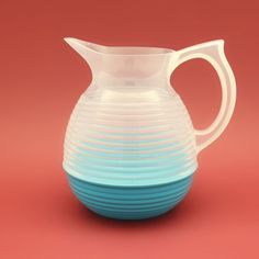 What better way to add a touch of nostalgia to mealtimes than serving your eau de robinet from a La Carafe jug from Hus & Hem - a design classic from France.  A common sight on the dining tables of French schools and colleges, this plastic carafe from the 1970's is a real blast from cafeterias past.