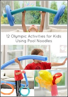 12 Olympic themed crafts and activities for kids using pool noodles from And Next Comes L