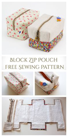 Bag Pattern Free, Pouch Pattern, Sew Pattern, Diy Bags Patterns, Sewing Patterns Free, Free Sewing, Handbag Patterns, Sewing Paterns, Sewing Art