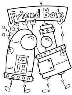 20 Cute Free Printable Robot Coloring Pages Online Robot Craft