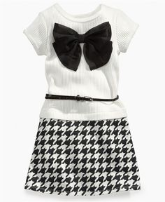 Does this come in my size? Sweet Heart Rose Kids Dress, Little Girls Belted Houndstooth Dress - Kids Girls 2-6X - Macy's $35.00 #MacysBTS