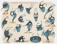 Tina Nawrocki - Art and Animation: Character Design - Lloyd the Long-Eared Owl