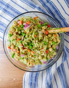 Orzo with Lemon Chimichurri Sauce from Street Smart Nutrition