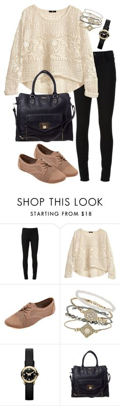 """shopping in winter"" by kendall-523 ❤ liked on Polyvore featuring J Brand, H&M, Charlotte Russe, Topshop and Marc by Marc Jacobs"