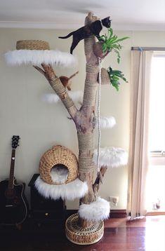 Cat Tree House, Cat House Diy, Diy Cat Tree, Cat Hacks, Cat Towers, Animal Room, Cat Condo, Cat Room, Cat Decor