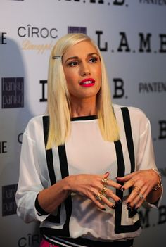 #Congrats to #GwenStefani at her L.A.M.B. Spring Summer 2015 launch at #NYFW. She loves rocking the Yellow Couture Band Ring and the Yellow Flower Bangle! #LAMBSS2015