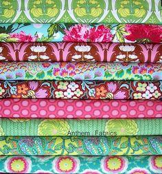 Soul Blossoms Amy Butler fabric bundle - Joy palette -Fat Quarter set of 9