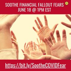 COVID-19 fallout is looming.  Want relief?    Join us, June 18th at 1pm EST for a roundtable planned to soothe anxiety, fears and overwhelm.   ⭐️   You'll gain an unbiased understanding of how you can bounce back. ⭐️   You'll receive tools to work through the pressure you're feeling ⭐️   You'll feel relief  ⭐️   You'll access clear action steps ⭐️   You'll discover there is a way to the other side  #relief #bouncebackfromCOVID #tribethrive #solutionstoCOVID19 June 18th, Business Motivation, Fallout, Productivity, Gain, Warriors, Mindset, Things That Bounce, Leadership