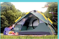 151.80$  Watch now - http://air35.worlditems.win/all/product.php?id=32718092778 - 3-4 people outdoor tent camping equipment automatic 2 Double Family tent camping Beach Set