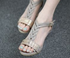 Flat strappy sandals forever