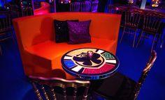 Festa tema Tomorrowland: mobiliário do lounge - Foto: Luiz Claudio Fotografia
