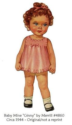 Baby Mine paper dolls and clothes at this link