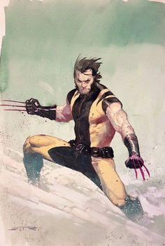 Esad Ribic - Wolverine, in Marco De Lotto's commissions Comic Art Gallery Room Marvel Comic Character, Comic Book Characters, Marvel Characters, Comic Books Art, Marvel Vs, Marvel Comics Art, Marvel Heroes, Wolverine Art, Logan Wolverine