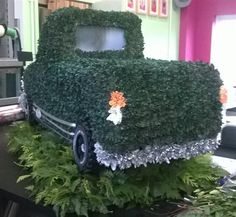 3D Pick up Truck and Trailer Funeral Flowers Tribute