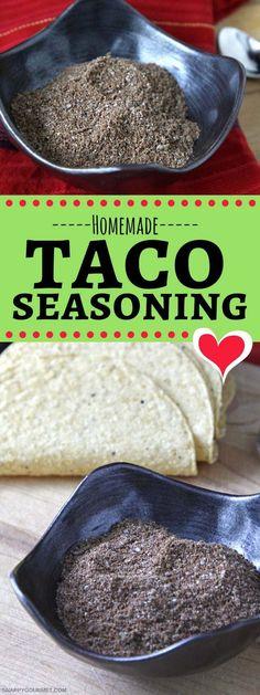 Homemade Taco Seasoning Recipe - DIY taco seasoning to make at home #Taco #Mexican #DIY #SnappyGourmet