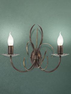 VALERY Redo - sviečková lampa - kov/hrdza s patinou