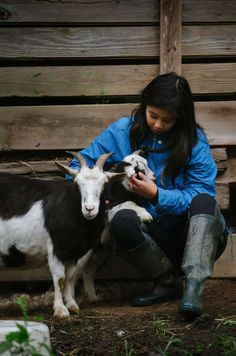 Yes, this hipcamper is cuddling with goats and you can too! (more PNW #cabinporn -> link in bio) // Leaping Lamb Farm, OR // photo: @donorun #FindYourselfOutside   http://hipca.mp/2g2CX4a