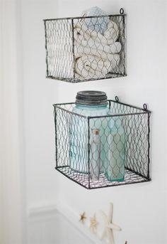 Love them - Wire Basket Box Set - http://www.farmhousewares.com/wirebasketboxset.aspx