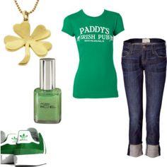 Not Irish,  but gotta love it. Green Adidas...need I say more?