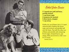 Mayberry Baked Goober Beanies Recipe Postcard | Flickr - Photo Sharing!