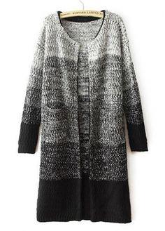Enchanting Long Sleeve Knitting Wool Cardigans with Pocket