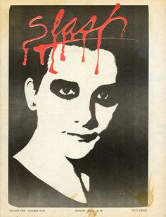 Cover: Slash volume one #1, May 1977. Photo of Dave Vanian (lead singer of The Damned) by Melanie Nissen.