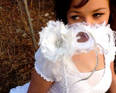 Custom Wedding Masquerade Mask - Made to Order - Bride and Groom Masks - Bridal Party Masks. $90.00, via Etsy.